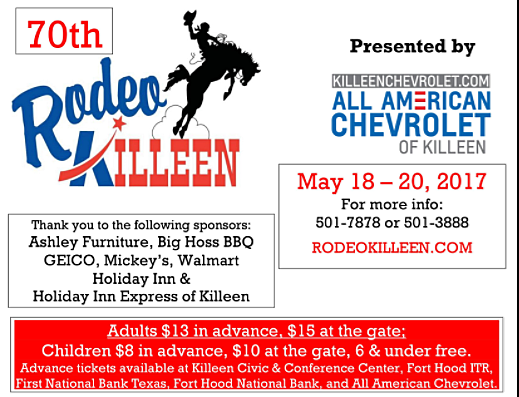 Rodeo Killeen - Photo from City of Killeen (used with permission)