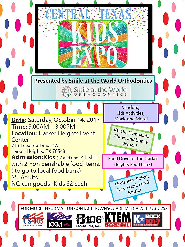Central Texas Kids Expo 2017 Poster